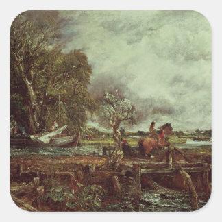 El caballo del salto, c.1825 (aceite en lona) colcomanias cuadradases
