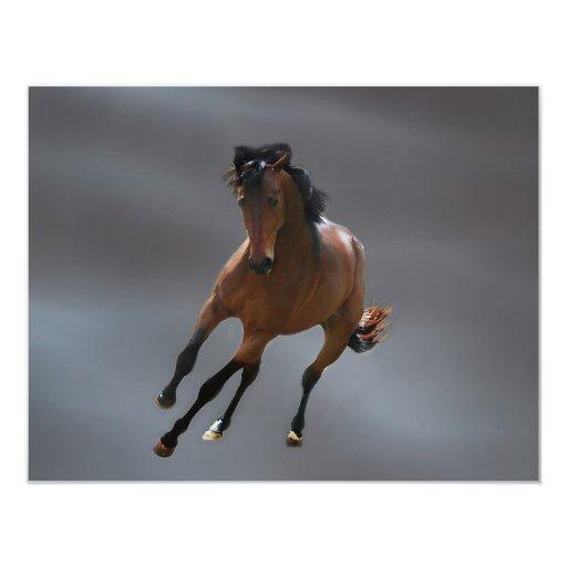 """El caballo del vaquero llamó Riboking Invitación 4.25"""" X 5.5"""""""