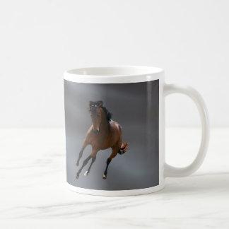 El caballo del vaquero llamó Riboking Taza Básica Blanca