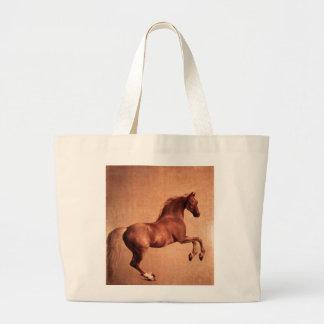 El caballo del vintage bolsa tela grande