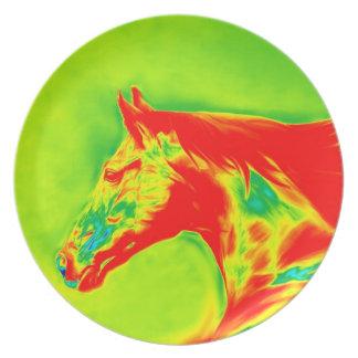 El caballo diseña la placa 2 platos para fiestas