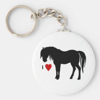 El caballo diseña - las camisetas y no las ropas t llavero redondo tipo pin