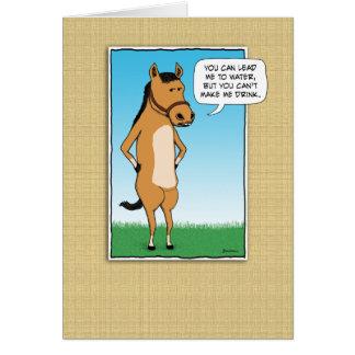 El caballo divertido quiere los Margaritas Tarjeta De Felicitación