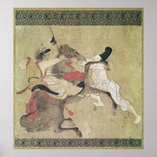 El caballo enojado posters