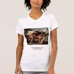 El caballo es atacado por un león de Stubbs George Camisetas