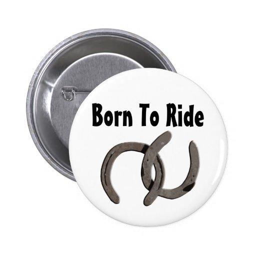 El caballo gris calza nacido montar pin