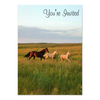 El caballo hermana la yegua y pare invitación de