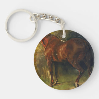 El caballo inglés de M Duval de Gustave Courbet Llaveros