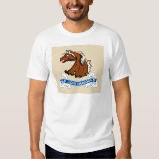 El caballo ligero Dragoons las camisetas de la Remeras