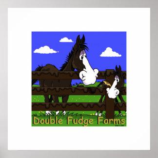 el caballo lindo embroma el poster del dibujo anim
