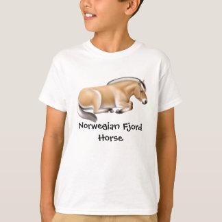El caballo noruego del fiordo embroma la camiseta poleras