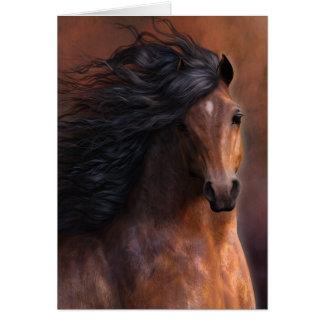 El caballo Notecard de Morgan Tarjeta De Felicitación