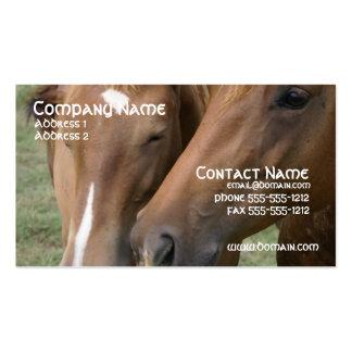 El caballo Nuzzle la tarjeta de visita