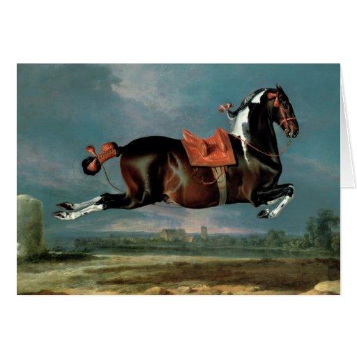 """El caballo picazo """"Cehero"""" que se alza Tarjeta De Felicitación"""