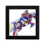 El caballo que salta tema anaranjado blanco azul a cajas de regalo