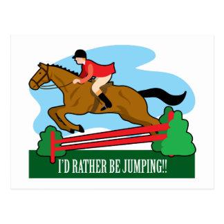 El caballo salta postal