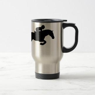 El caballo salta taza de viaje de acero inoxidable