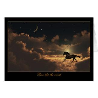 El caballo se nubla la tarjeta del cielo nocturno