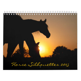 El caballo siluetea 2015 calendario