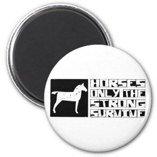 El caballo sobrevive imán redondo 5 cm