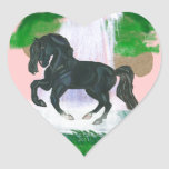 El caballo soña el vSticker andaluz del corazón de Calcomanía De Corazón Personalizadas