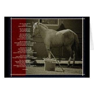El caballo tarjeta de felicitación