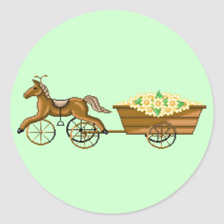 El caballo Trike de Lura y pegatina del carro