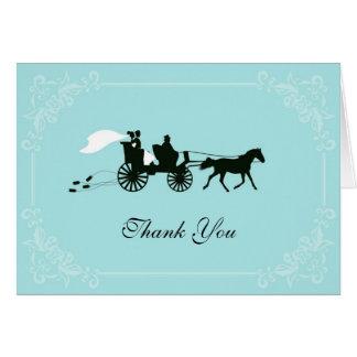 El caballo y el carro del cuento de hadas le agrad tarjeta pequeña
