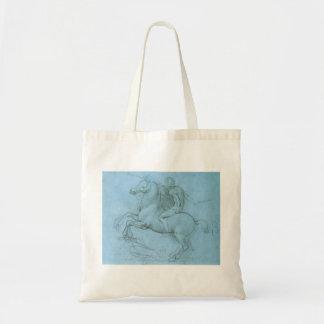El caballo y el jinete de da Vinci Bolsa Tela Barata