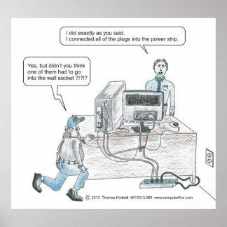 El cable eléctrico del ordenador publica el dibujo póster