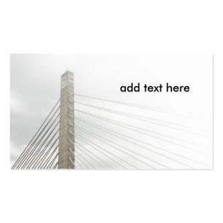 el cable permanecía el puente tarjetas de visita