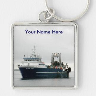 El cabo de Hornos, barco rastreador de fábrica en  Llavero Personalizado