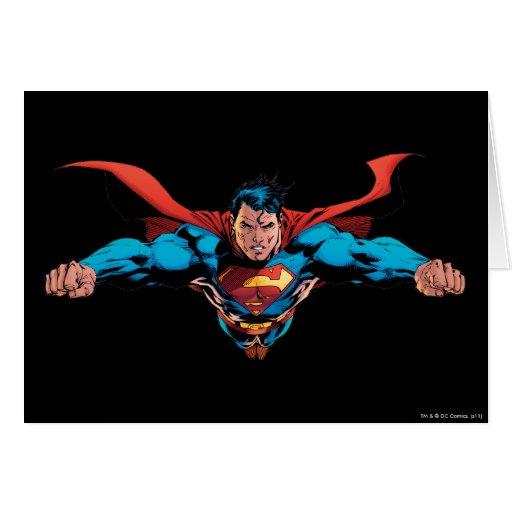 El cabo del superhombre vuela tarjeta de felicitación