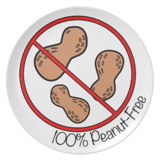 El cacahuete 100% libera plato para fiesta