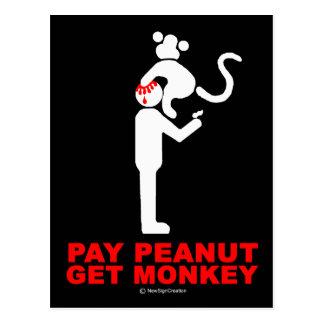 El cacahuete de la paga, consigue el mono tarjetas postales