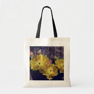 el cactus amarillo florece las flores bolsas lienzo