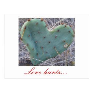 el cactus, amor daña… postal