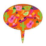 El cactus del sombrero del fiesta de la fiesta abo decoración para tarta
