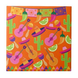 El cactus del sombrero del fiesta de la fiesta abo azulejos