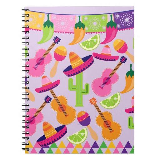 El cactus del sombrero del fiesta de la fiesta abo cuaderno