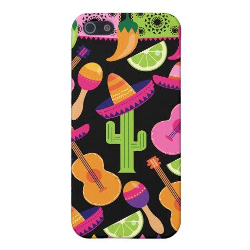 El cactus del sombrero del fiesta de la fiesta abo iPhone 5 fundas