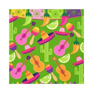 El cactus del sombrero del fiesta de la fiesta abo impresión de lienzo