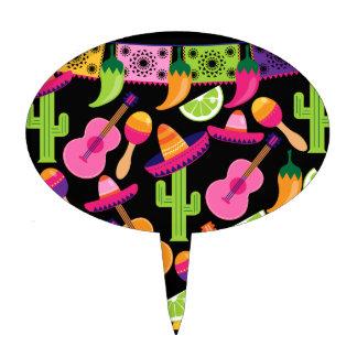 El cactus del sombrero del fiesta de la fiesta decoración de tarta