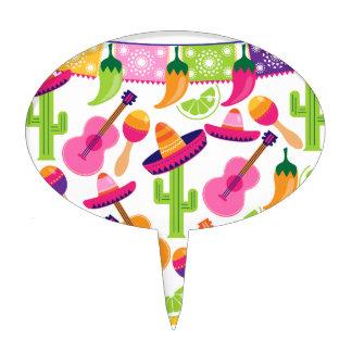 El cactus del sombrero del fiesta de la fiesta decoraciones para tartas