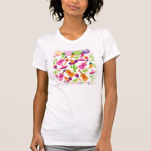 El cactus del sombrero del fiesta de la fiesta camisetas