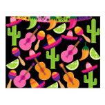 El cactus del sombrero del fiesta de la fiesta tarjetas postales