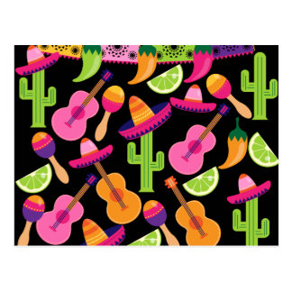 El cactus del sombrero del fiesta de la fiesta postal