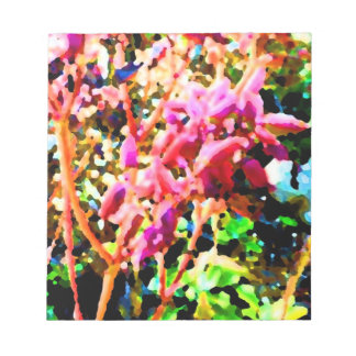 el cactus floral abstracto florece rosa blocs de notas
