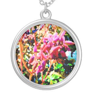 el cactus floral abstracto florece rosa colgante redondo