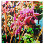 el cactus floral abstracto florece rosa servilletas de papel